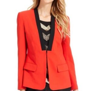 Vince Camuto Red Black Colorblock Blazer 16W